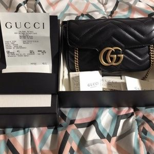 Authentic Gucci Supermini Marmont Matelasse bag